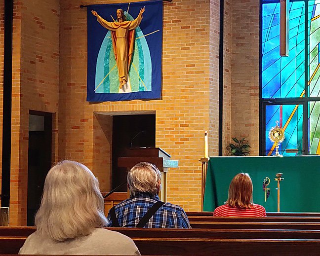 Adoration at St. Joseph Church in Des Moines