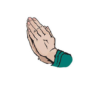 Graphic of hands in prayer