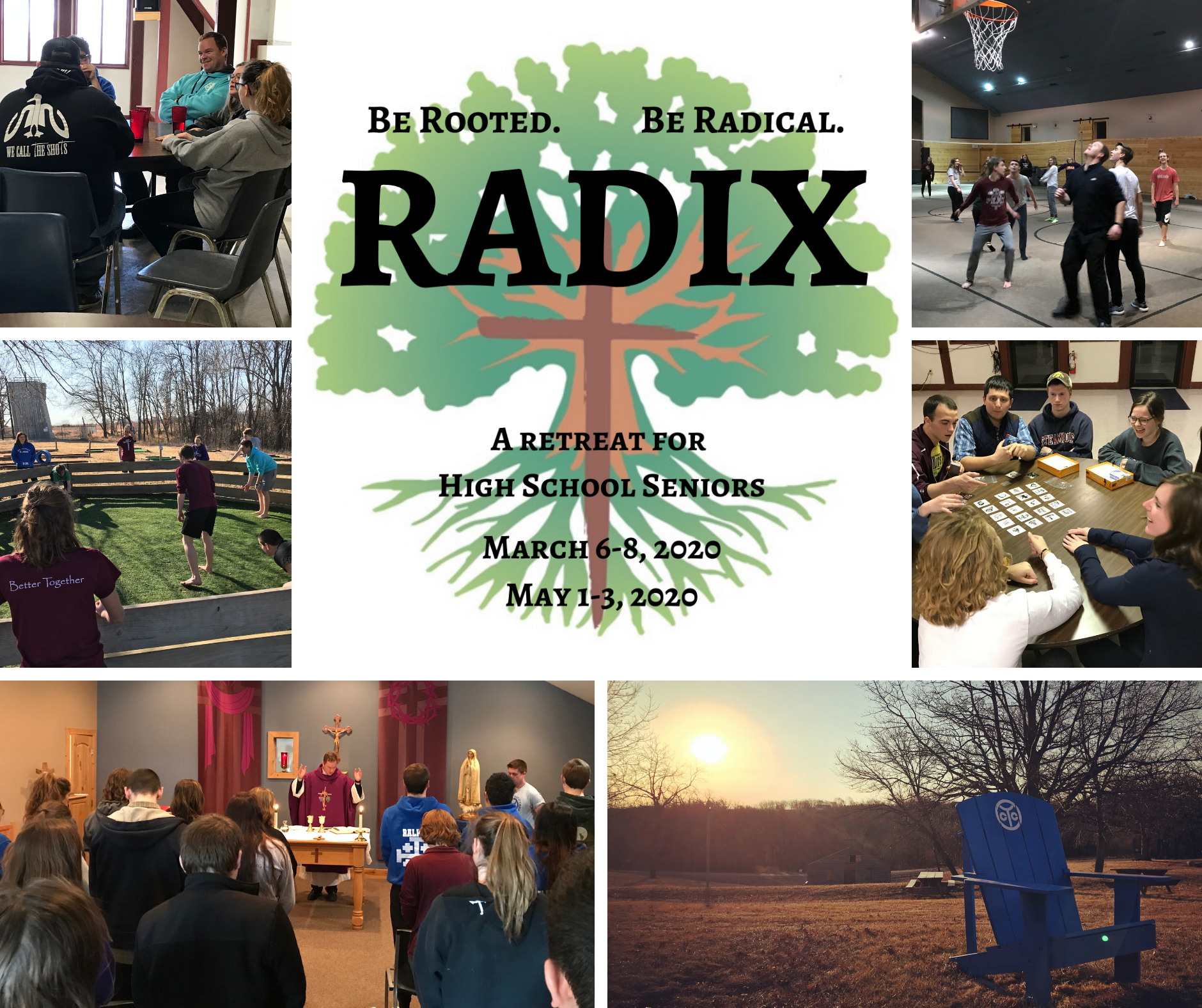 Collage of images from Radix retreat